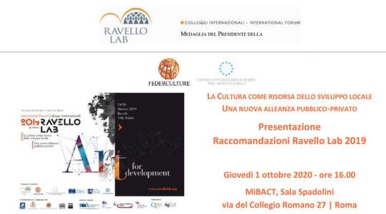 Ravello Lab 2019 – Presentazione Raccomandazioni