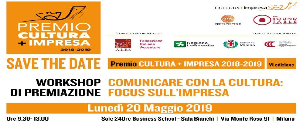COMUNICARE CON LA CULTURA  Workshop di premiazione del Premio CULTURA+IMPRESA VI edizione