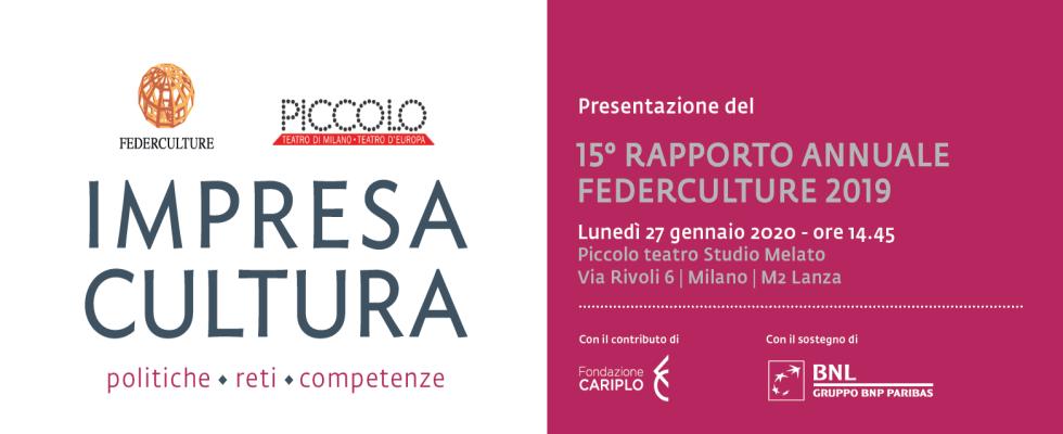 IMPRESA CULTURA 2019, presentazione a Milano