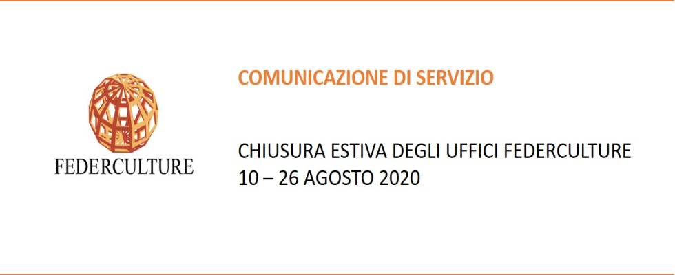 Comunicazione di servizio – Chiusura estiva